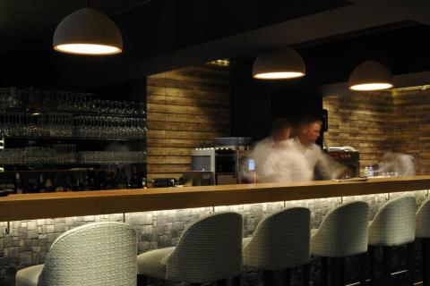 Bar met verlichting