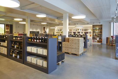 Moderne rek wijn