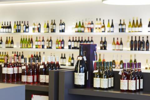 Wijn verkoopsrek